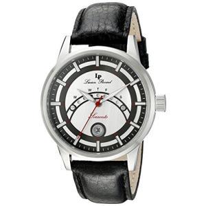当店1年保証 ルシアンピカールLucien Piccard Men's LP-10154-02S-BC Sorrento Stainless Steel Watch with Black Leather planetdream