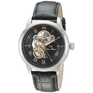 当店1年保証 ルシアンピカールLucien Piccard Men's LP-12524-01-RA Optima Stainless Steel Automatic Watch with Black L planetdream
