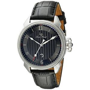 当店1年保証 ルシアンピカールLucien Piccard Men's LP-40053-01 Trevi Stainless Steel Watch with Leather Band planetdream