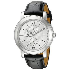 当店1年保証 ルシアンピカールLucien Piccard Men's LP-40026-02S Spiga Stainless Steel Watch with Black Leather Band planetdream