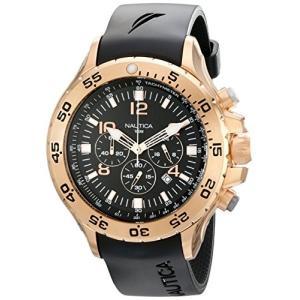 当店1年保証 ノーティカNautica Men's N18523G NST Black/Rose Gold-Tone Stainless Steel Dress Watch, Black|planetdream