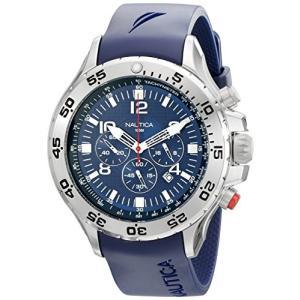 当店1年保証 ノーティカNautica Men's N14555G NST Stainless Steel Watch with Blue Resin Band|planetdream