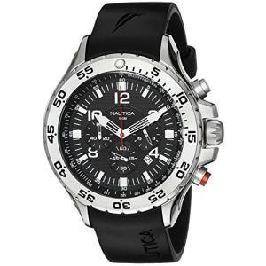 当店1年保証 ノーティカNautica Men's N14536 NST Stainless Steel Watch with Black Resin Band|planetdream