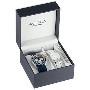 当店1年保証 ノーティカNautica Men's N09915G Sport Ring Multifunction Stainless Steel Watch With Two Interchangable Res|planetdream