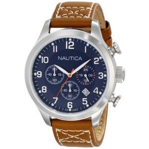 当店1年保証 ノーティカNautica Men's N14699G BFD 101 Chrono Classic Stainless Steel Watch with Brown Band|planetdream