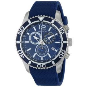 当店1年保証 ノーティカNautica Men's N15103G NST 09 Stainless Steel Watch with Blue Silicone Band|planetdream