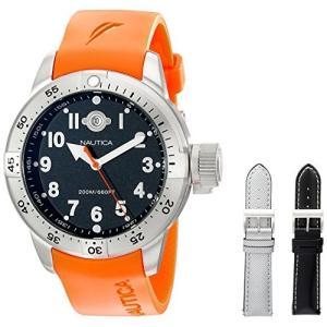 当店1年保証 ノーティカNautica Men's N14508 BFC Stainless Steel Diver Watch|planetdream