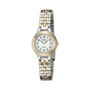 当店1年保証 セイコーSeiko Women's SUP100 Solar Expansion Two-Tone Stainless Steel Classic Watch|planetdream