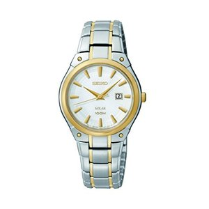 当店1年保証 セイコーSeiko Women's SUT128 Dress Solar Analog Display Japanese Quartz Two Tone Watch|planetdream