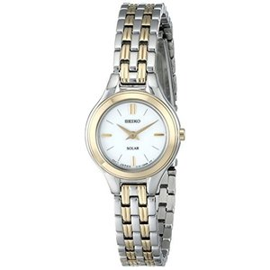 当店1年保証 セイコーSeiko Women's SUP210 Classic Solar-Power Two-Tone Watch|planetdream