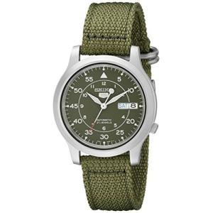 当店1年保証 セイコーSeiko Men's SNK805 Seiko 5 Automatic Stainless Steel Watch with Green Canvas planetdream
