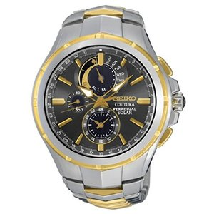当店1年保証 セイコーSeiko Men's COUTURA Japanese-Quartz Watch with Two-Tone-Stainless-Steel Strap, 12 (Model: SSC376) planetdream