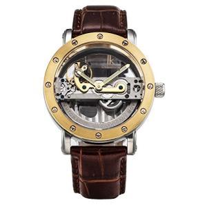 当店1年保証 スチームパンクGute Luxury Steampunk Bling Automatic Mechanical Wristwatch Minimalist Gold Tone Bezel Dar|planetdream