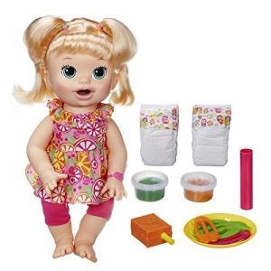 喋る・モグモグ食べる・オムツ替えができるお人形★ベビーアライブ スーパースナックスナッキン サラ ブロンド|planetdream