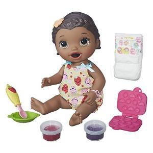 ご飯を食べる・オムツ替えできるお人形★ベビーアライブ スーパースナックスナッキン リリー アフリカンアメリカン|planetdream