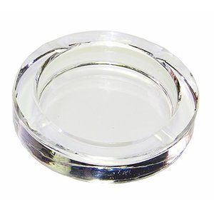 灰皿Amlong Crystal Round Crystal Ashtray for Cigarettes or Cigars with Gift Box|planetdream