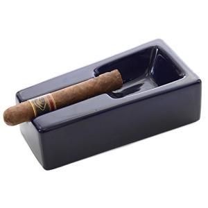 灰皿Mantello Cigars Cobalt Blue Ceramic Cigar Ashtray for Patio/Outdoor Use|planetdream