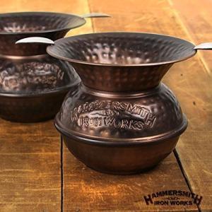 灰皿Hammersmith Iron Works Spittoon Ashtray - Antique Copper|planetdream