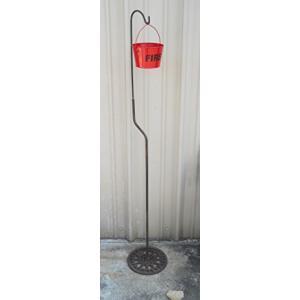灰皿Carver's Olde Iron Outdoor Shepherds Hook & Fire Bucket Ashtray for the Patio and Garden|planetdream