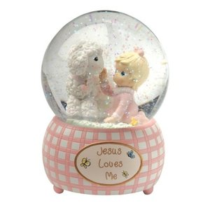 スノーグローブPrecious Moments,  Jesus Loves Me, Snow Globe, Resin, Girl, 102403|planetdream