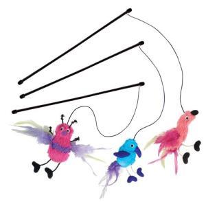 猫おもちゃKONG Active Feather Teaser Catnip Toy, Assorted, 1 Piece|planetdream
