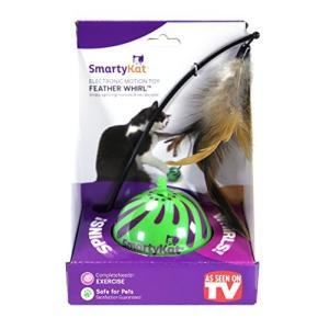 猫おもちゃSmartyKat Feather Whirl Electronic Motion Cat Toy, As Seen On TV|planetdream