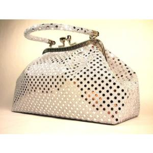 レベッカミンコフHandbag by WiseGloves Eve Metallic Silver Handbag Purse Evening Clutch Dress planetdream