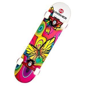 スタンダードスケートボードPunisher Skateboards Butterfly Jive Complete 31-Inch Skateboard with Canadian Maple|planetdream