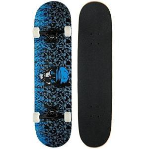スタンダードスケートボードKrown Pro Skateboard Complete Blue Flame 7.75 in|planetdream