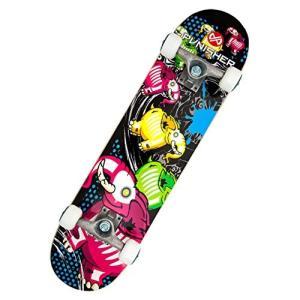 スタンダードスケートボードPunisher Skateboards Elephantasm  Complete 31-Inch Skateboard All Maple|planetdream