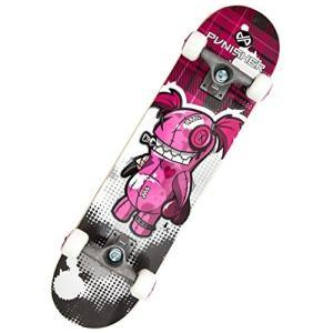 スタンダードスケートボードPunisher Skateboards Voodoo  Complete 31-Inch Skateboard All Maple|planetdream
