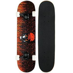 スタンダードスケートボードKrown Intro Skateboard, Red Flame|planetdream