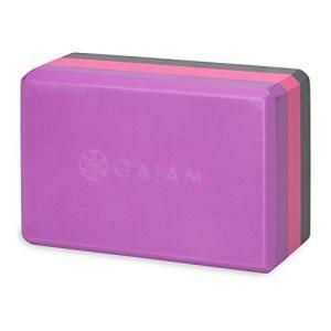 ヨガブロックGaiam Yoga Block - Supportive Latex-Free EVA Foam Soft Non-Slip Surface for Yoga, Pilates, Meditation, Tri-Color