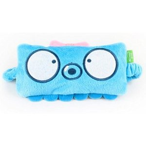 ヨガhelen ou @ tx Super Cute Cartoon Eyes Mask Cover Shading light Travelling Necessity Blue