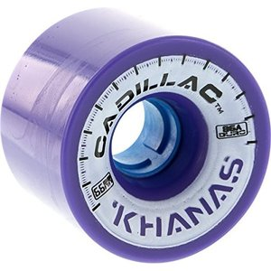 ウィールCadillac Wheels Khana Purple Skateboard Wheels - 66mm 86a (Set of 4)|planetdream