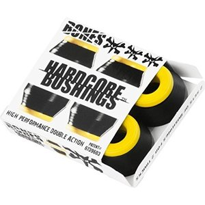 ブッシュBones Hardcore 4pc Medium Black Yellow Bushings Skateboard Bushings|planetdream