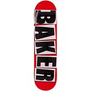 デッキBaker Brand Logo Red with Black Letters 7.88