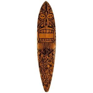 デッキBamboo Skateboards ? Pintail Longboard Tiki Man 44