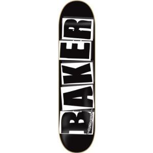 デッキBaker Brand Logo Deck-8.0 Black/White Skateboard Deck|planetdream