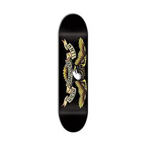 デッキAnti-Hero Classic Eagle Large Skateboard Deck 8.12 - Black/Yellow|planetdream