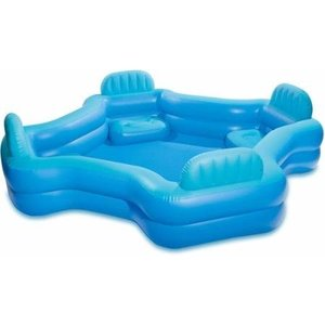 プールIntex Relax And Keep Cool 57191WL Swim Center Family Lounge Pool, Holds 221 Gallons Water, Blue planetdream