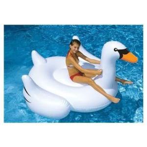 フロートSwimline Giant Inflatable Swan Pool Float planetdream