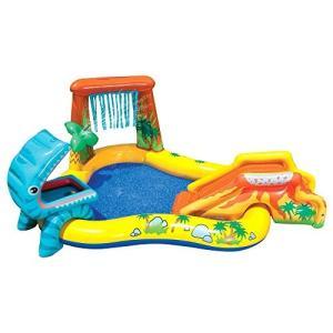 プールIntex Dinosaur Inflatable Play Center, 98in X 75in X 43in, for Ages 2+|planetdream