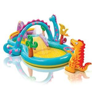 プールIntex Dinoland Inflatable Play Center, 131in X 90in X 44in, for Ages 3+|planetdream
