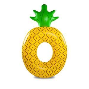 フロートBigMouth Inc Giant Pineapple PooI FIoat, Funny Fruit InfIatable Vinyl Summer Pool or Beach Toy, Patch Kit Included|planetdream