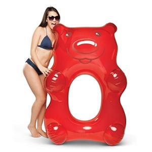 プールBigMouth Inc Giant Inflatable Candy Pool Float, Novelty Swim Tube, Emergency Patch Kit Included (Red Gummy Bear)|planetdream