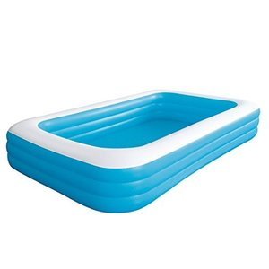 プールGiant Inflatable Kiddie Pool - Family and Kids Inflatable Rectangular Pool - 10 Feet Long (120