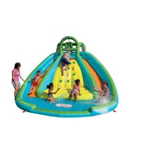 プールLittle Tikes Rocky Mountain River Race Inflatable Slide Bouncer|planetdream