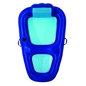 フロートAqua Fabric Comfort Recliner Water Lounge, X-Large, Pool Float, Blue/Aqua|planetdream