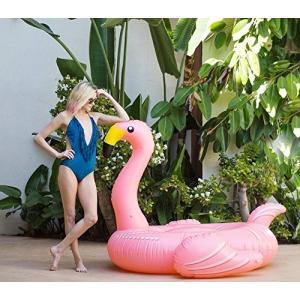 フロートFlamingo Inflatable Floatie - Large Ride On Blow Up Pool Toy Swimming Summer Fun Games - Pink|planetdream